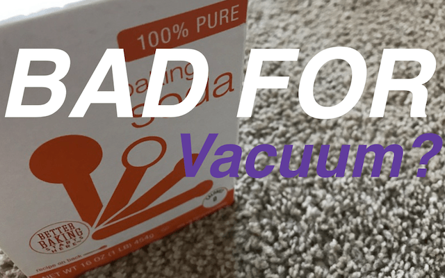 how to clean baking soda out of vacuum